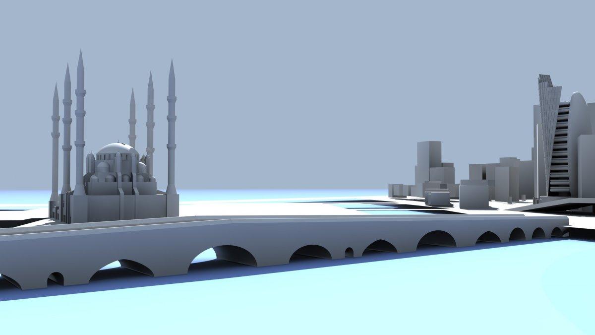 Adana Sabancı Merkez Cami, Taş Köprü ve Kız Kulesi Modelleme | Vedat ŞEKER