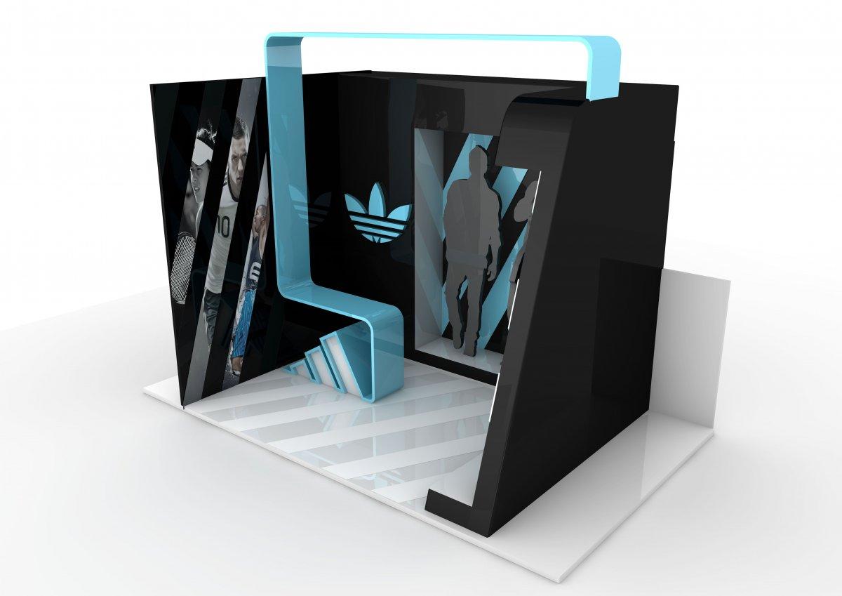Adidas stand tasarımı - Vedat ŞEKER