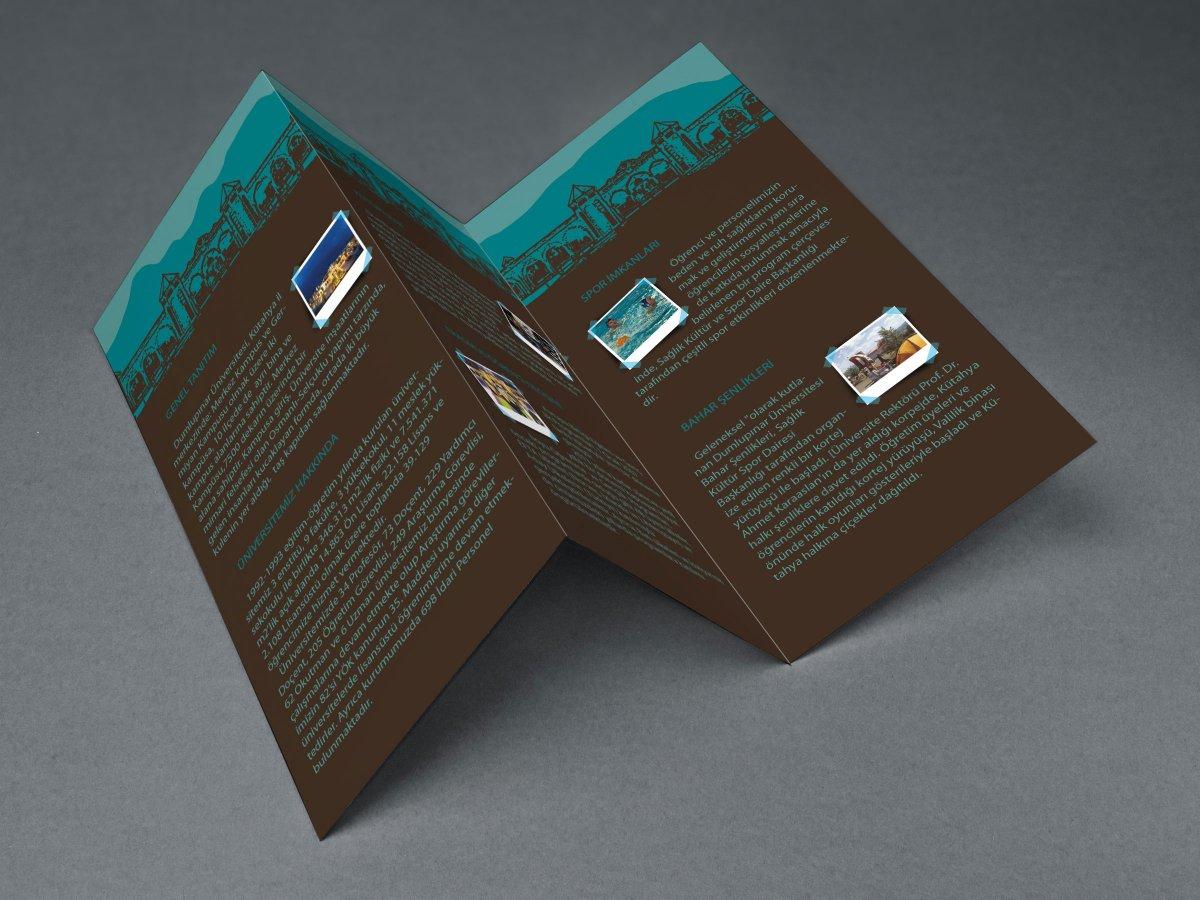 Dumlupınar Üniversitesi Broşür Tasarımı   Vedat ŞEKER