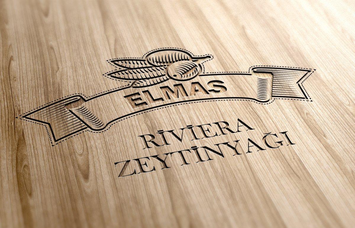 Elmas zeytin yağları logo çalışması | Vedat ŞEKER