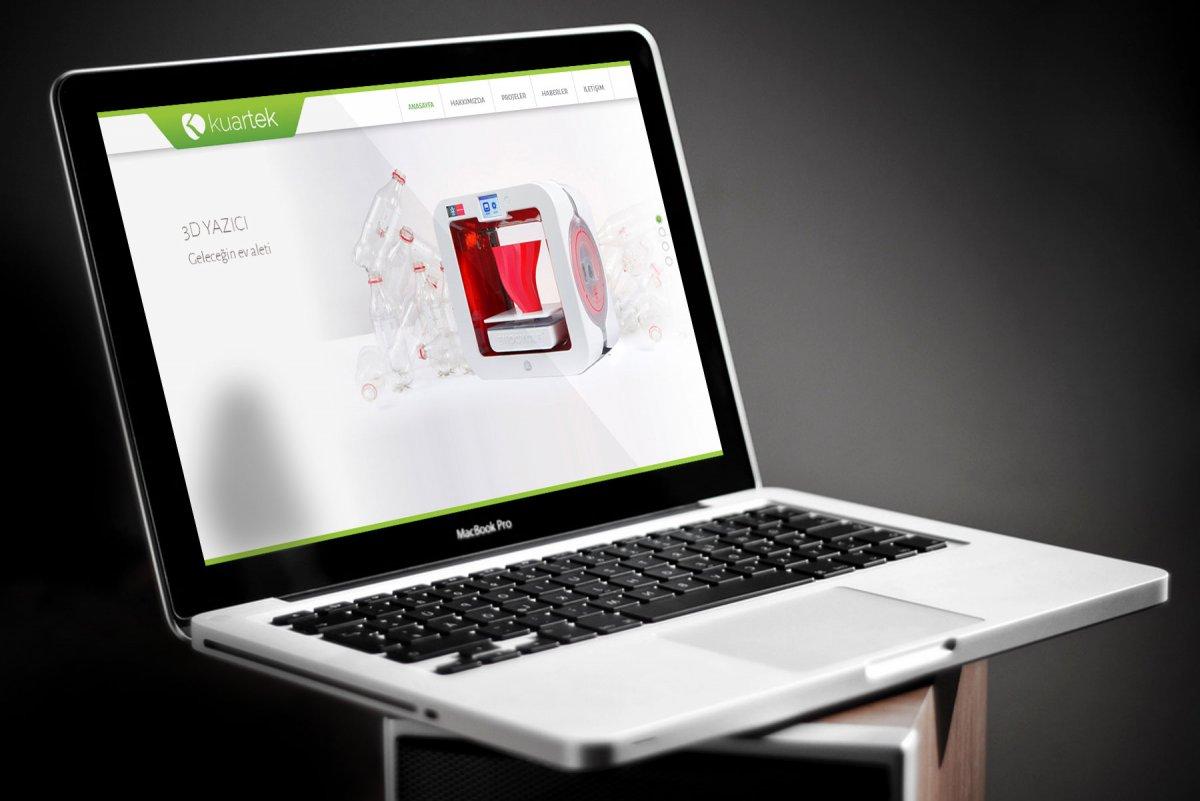Kuartek proje tasarım web site arayüzü ve yazılımı | Vedat ŞEKER