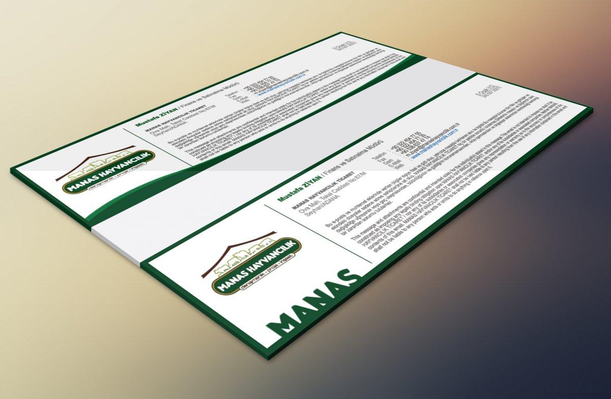 Manas Hayvancılık için hazırlanmış mail imza tasarımları, mailing, mail imza | Vedat ŞEKER