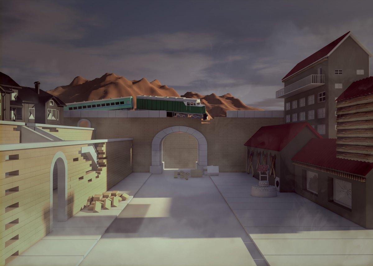 Cinema 4d ile yapılmış mekan modelleme   Vedat ŞEKER