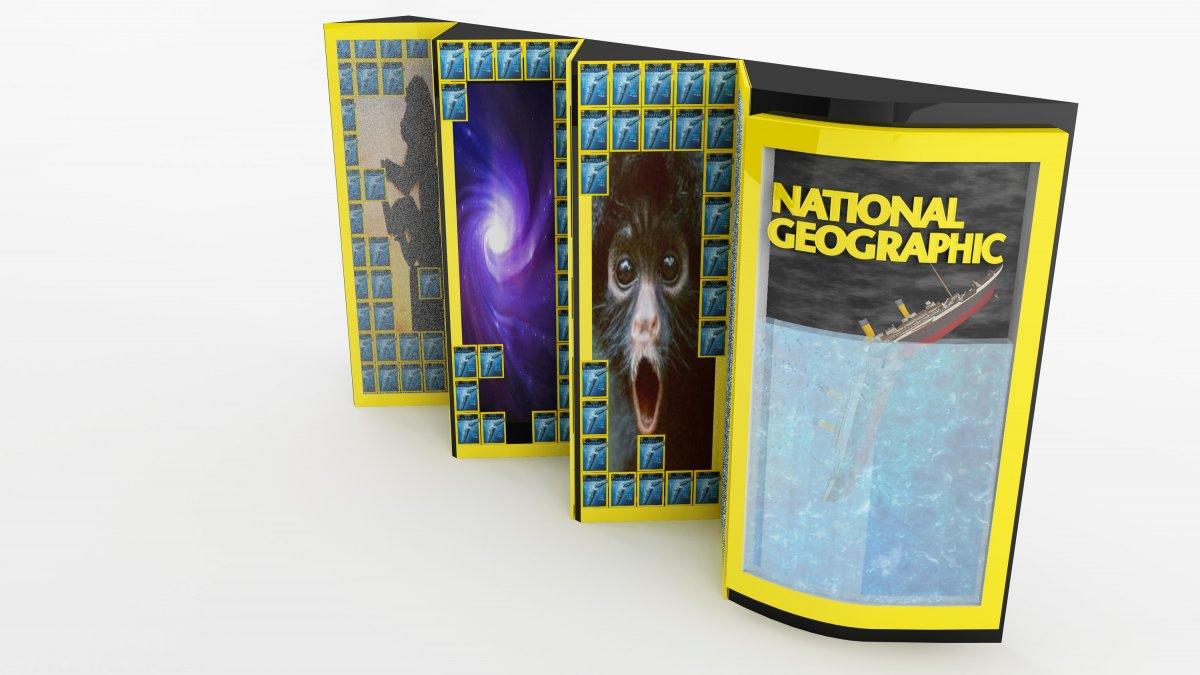 national geographic stand tasarımı, endüstriyel, modelleme | Vedat ŞEKER