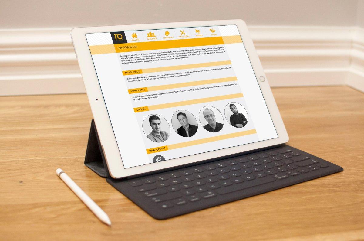 Rahmioğulları Proje Tasarım web sitesi | Vedat ŞEKER