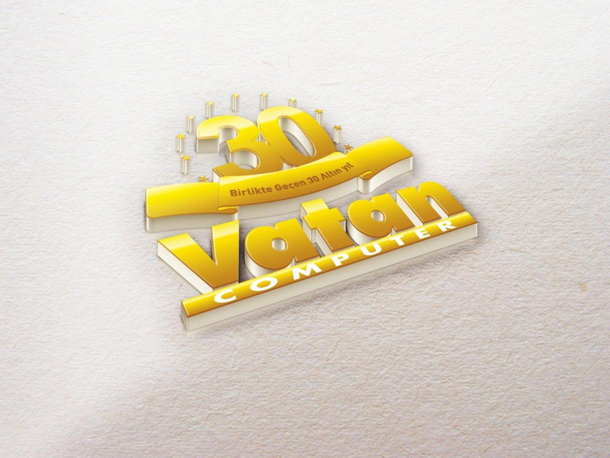 Vatan Computer (Vatan bilgisayar) 30. yıla özel logo | Vedat ŞEKER